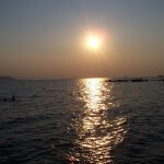 Aegina zonsondergang