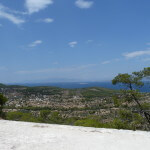Uitzicht vanaf de tempel van Afaia