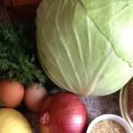 Gevulde koolbladeren ingrediënten