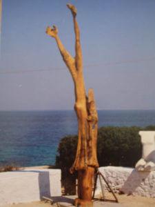 Christos Kapralos kunstwerk hout